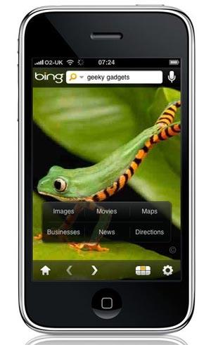 Bing el nuevo buscador del iPhone