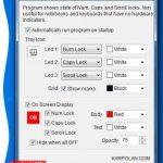 Keyboard Leds  – Utilidad que muestra cuando esta activado las mayusculas y los numeros