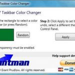 Windows 7 Taskbar Color Changer  – Cambia el color de la barra de tareas de Windows 7