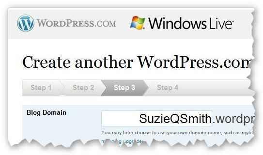 windows live a wordpress