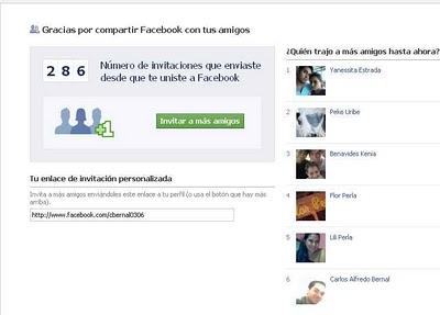 Facebook Impact - averigua cuantas invitaciones amigos haz enviado