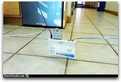 Mejor lugar para instalar un router - humor