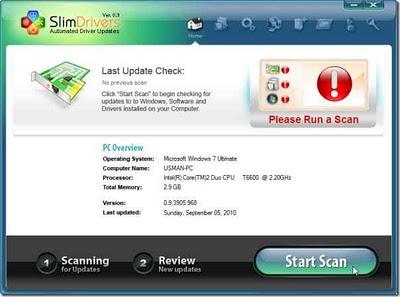 SlimDrivers - un programa para actualizar, hacer copias de respaldo y restaurar los drivers