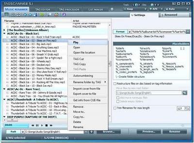 TagScanner - programa que te ayuda a organizar, renombrar archivos de musica