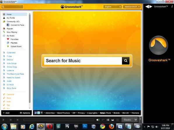 Grooveshark Desktop Portable