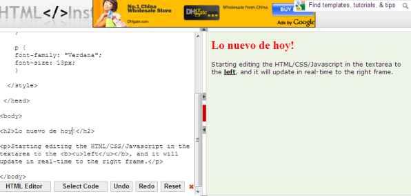 tmlinstant - editor online html en tiempo real