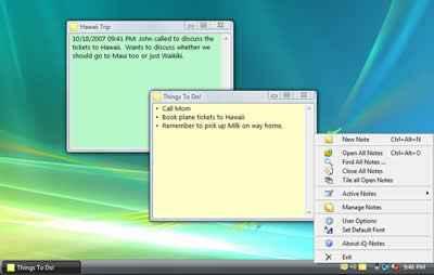 iQ-Notes - notas en el escritorio de Windows