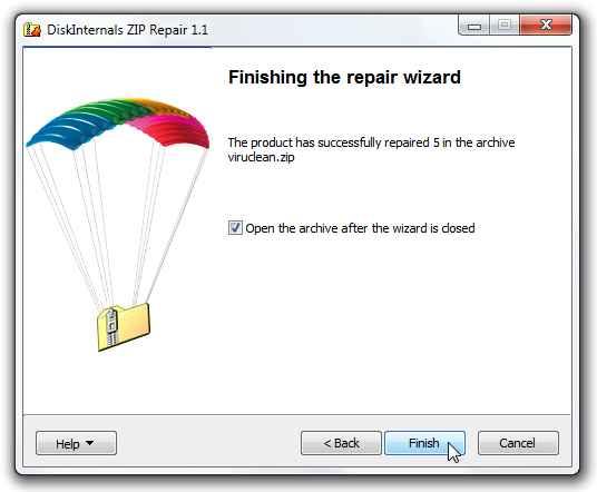 programa para reparar archivos .zip dañados