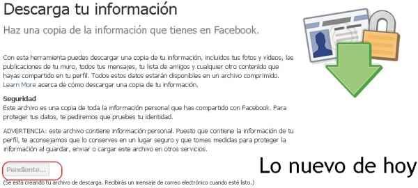 Descargar los datos de facebook
