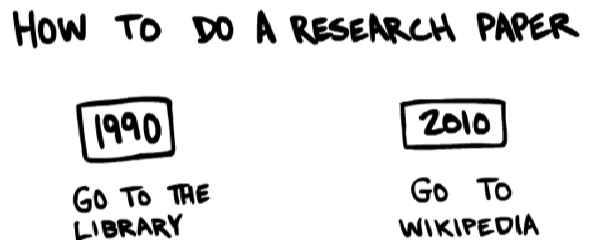 Humor: como se buscaban las tareas en 1990 y como se buscan las tareas en el 2010