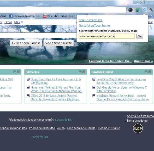 VTchromize - Extension para Chrome que sirve para escanear paginas webs antes de visitarlas