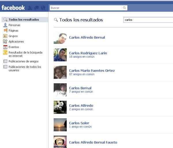 como buscar y encontrar personas en facebook