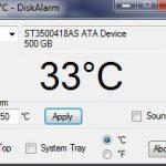 Disk Alarm programa gratuito para ver la temperatura del disco duro