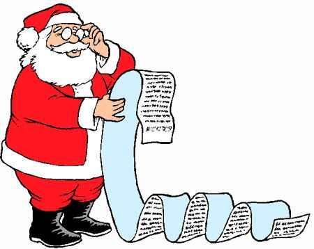 lista de regalos de santa