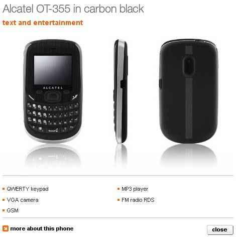 Características del Alcatel OT-355