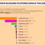 Infografia:  Cual es la plataforma de blogging usada