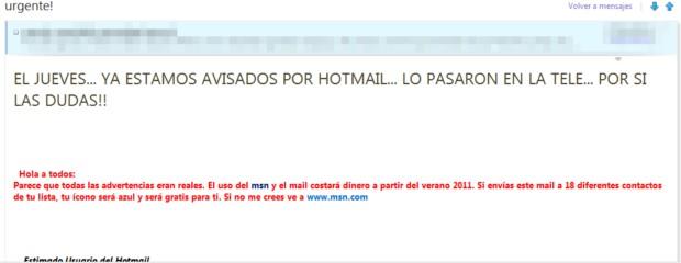 Hotmail va ser pagado