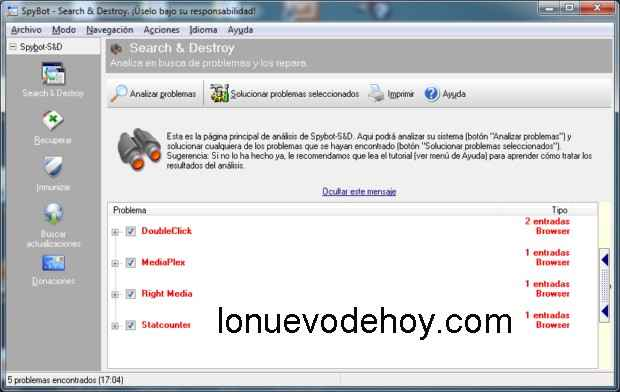 Spybot - Search & Destroy Portable para descargar