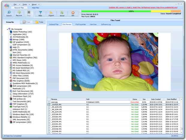 Undelete360 - programa gratuito para recuperar archivos borrados