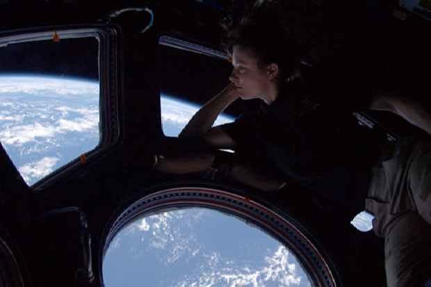vista a la tierra desde el espacio
