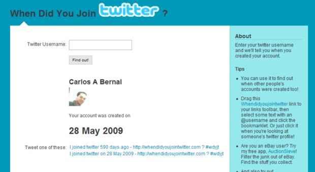 Como saber la fecha en que nos registramos en Twitter