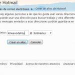 Como crear un alias en Hotmail
