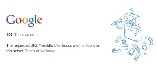 El nuevo 404 de Google