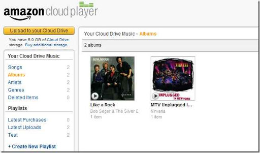 Amazon Cloud Player para Android