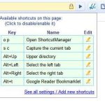 Shortcut Manager – crear accesos personalizados en Chrome