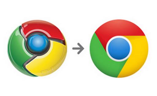 logo antiguo y nuevo logo de Chrome