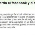 Humor: Guardar Facebook y Twitter en un Diskete