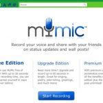 Mostrar el estado de actualización en Facebook con tu propia voz con mymicapp