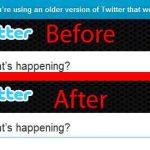 Quitar el mensaje de estas usando la versión antigua de Twitter  con Old Twitter Forever