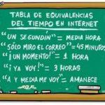 Humor: el tiempo en internet