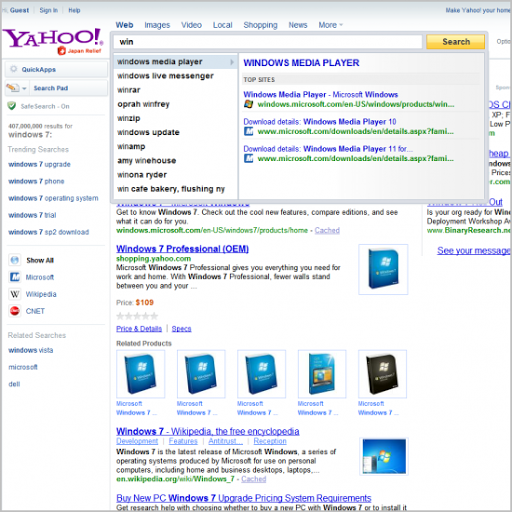 Yahoo! Search Direct