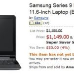 Ya está disponible la Samsung Series 9 en Amazon