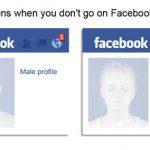 Humor: lo que sucede si un hombre y una mujer no entra a Facebook por una semana