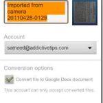 Aplicación de Android para Google Docs