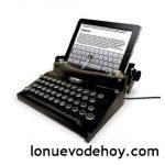 Humor: ipad hecho una máquina de escribir