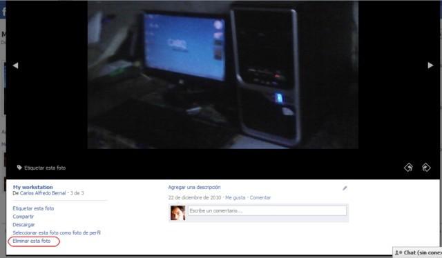 Cómo eliminar una foto de Facebook