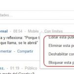 Google plus vs facebook: Hacer publicaciones