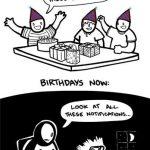 Cómo se celebran los cumpleaños hoy (humor)