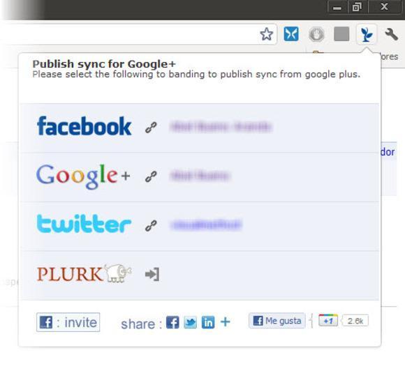 Google+ plus, Facebook y twitter