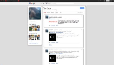 Styling for Google Plus