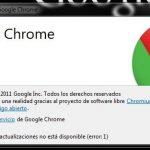 Chrome: El servidor de actualizaciones no está disponible (solucion)