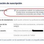 Como activar las suscripciones (seguir) en Facebook
