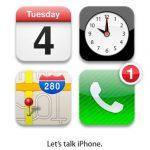 El iphone 5 se dara a conocer el 4 de octubre