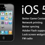 Lista de dispositivos que permiten la actualización de iOS 5