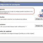 Como desactivar las suscripciones en Facebook
