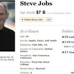 ¿Cuál era la fortuna de Steve Jobs?